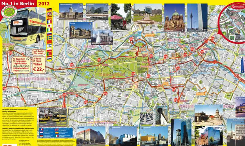Mapa Bus Turistico Bvbtour La Guia De Berlin